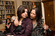 LADY NAIPAUL; TAVLEEN SINGH;, Aatish Taseer  book launch party for his new book Stranger To History. Travel book asks what it means to be a Muslim in the 21st century. Hosted by Gillon Aitken. Kensington, London. 30 March 2009