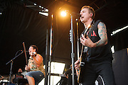 Yellowcard performing at Warped Tour at the Verizon Wireless Amphitheater in St. Louis on July 5, 2012.