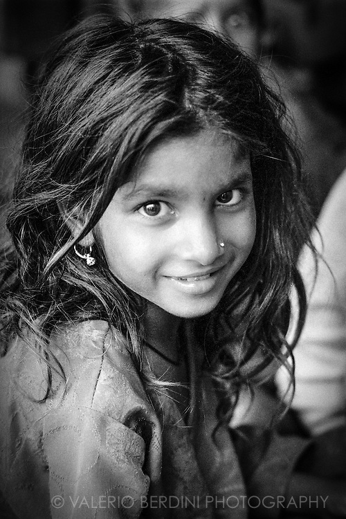 A young girl smile in Varanasi, India. 2003