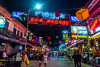 Pub Street, the entertainment/bar/restaurant district of Siem Reap, Cambodia.