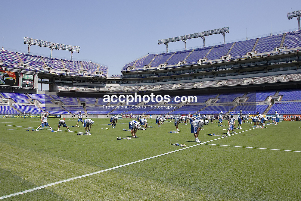 25 May 2007: Duke Blue Devils in a practice, before the NCAA semifinals, at M&T Stadium in Baltimore, MD.