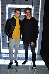 Oliver Cheshire and Pietro Boselli at the official launch of The Perception at W London, 10 Wardour Street, London England. 7 November 2017.<br /> Photo by Dominic O'Neill/SilverHub 0203 174 1069 sales@silverhubmedia.com