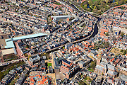 Nederland, Groningen, Groningen, 01-05-2013; Groningen-stad, centrum, A-kerkhof met der Aa-kerk. Linksboven Hoge der Aen Lage der A. Winkelcentrum Westerhaven.<br /> View on the city of Groningen, old town. Newly constructed shopping mall Westerhaven.<br /> luchtfoto (toeslag op standard tarieven)<br /> aerial photo (additional fee required)<br /> copyright foto/photo Siebe Swart