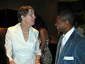 Janet Reno & Usher @ BMG Grammy Party 02/13/2005