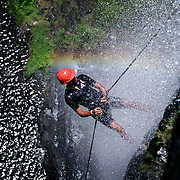 Photo: Mark Chilvers/Insight..Abseiling down a mountain