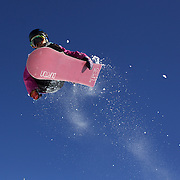 Shota Senzaki, Japan, in action during the Men's Half Pipe competition at the Burton New Zealand Open 2011 held at Cardrona Alpine Resort, Wanaka, New Zealand, 10th August 2011. Photo Tim Clayton