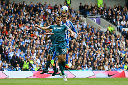 Solly March of Brighton & Hove Albion in action, heads the ball - Mandatory by-line: Jason Brown/JMP - 17/04/2017 - FOOTBALL - Amex Stadium - Brighton, England - Brighton and Hove Albion v Wigan Athletic - Sky Bet Championship