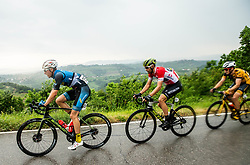 Florian Kierner (AUT) of Team Felbermayr Simplon Wels, Luka Mezgec (SLO) of Mitchelton - Scott, Benjamin Hill (AUS) of Ljubljana Gusto Santic during 4th Stage of 26th Tour of Slovenia 2019 cycling race between Nova Gorica and Ajdovscina (153,9 km), on June 22, 2019 in Slovenia. Photo by Vid Ponikvar / Sportida