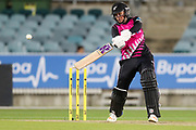 Lea Tahuhu cuts. Women's T20 international Cricket, Australia v New Zealand White Ferns.  Manuka Oval, Canberra, 5 October 2018. Copyright Image: David Neilson / www.photosport.nz