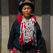 Iu Mien also called Yao hill tribe woman in northern Thailand. The Yao hail from southern China and at one time had considerable power within the Chinese empire to the extent that at one time a Yao princess was married to an emperor of China They are the only hill tribe to use a written language Chinese and practice a written religion base on medieval Chinese Taoism although in recent years there have been many converts to Christianity and Buddhism