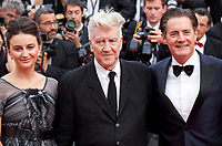 Emily Stofle, David Lynch and Kyle MacLachlan at Twin Peaks gala screening at the 70th Cannes Film Festival Thursday 25th May 2017, Cannes, France. Photo credit: Doreen Kennedy