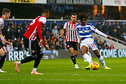 Rangers Midfielder Eberechi Eze during the EFL Sky Bet Championship match between Queens Park Rangers and Brentford at the Loftus Road Stadium, London, England on 10 November 2018.