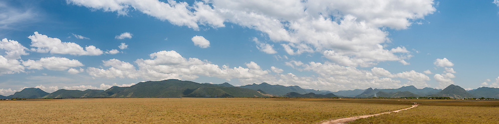 A panoramic of the Kanuku Mountains.