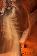 Sunbeam in Upper Antelope Canyon near Page, Arizona, USA