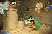 Ethiopia, Gondar interior of a local home