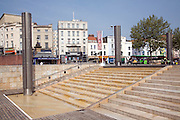 Water running down steps, The Cascade, Centre Promenade, Bristol