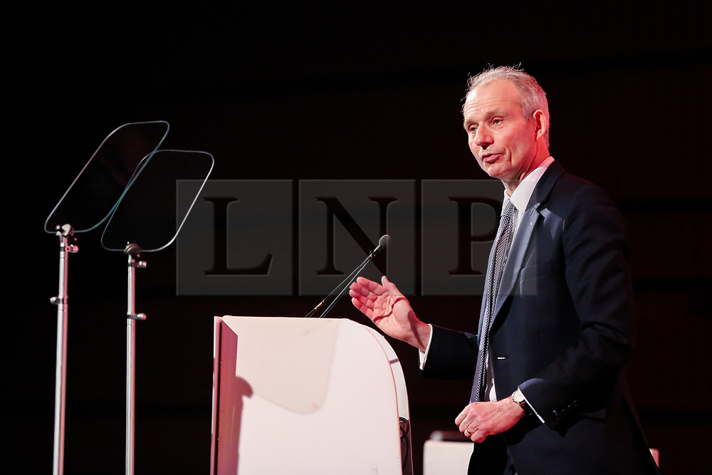 © Licensed to London News Pictures. 28/03/2019. London, UK. David Lidington MP - Minister for the Cabinet Office and Chancellor of the Duchy of Lancaster speaking at the British Chambers of Commerce (BCC) Annual Conference. British Chambers of Commerce Annual Conference brings together the UK Chamber Network including  business decision-makers, policy makers and the Chamber network aiming to emphasise the positive role that companies play in stabilising the British economy in a time of Brexit, uncertainty and change.  Photo credit: Dinendra Haria/LNP