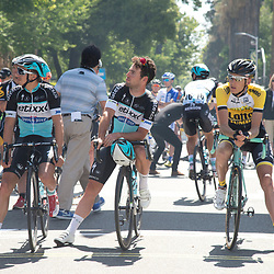 10-05-2015: Wielrennen: Amgen Tour of California: USA<br /> SACRAMENTO (USA) cycling <br /> The 1th stage round Sacramento before the start of the race Robert Gesink and Mark Cavendish