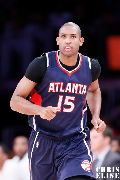 15 March 2015: Atlanta Hawks center Al Horford (15) is seen during the Atlanta Hawks 91-86 victory over the Los Angeles Lakers, at the Staples Center, Los Angeles, California, USA.