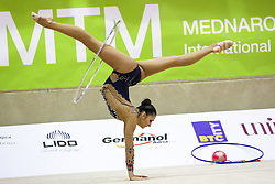 Monija Cebasek of Slovenia competes during 28th MTM - International tournament in rhythmic gymnastics Ljubljana, on April 4, 2015 in Arena Krim, Ljubljana, Slovenia. Photo by Matic Klansek Velej / Sportida