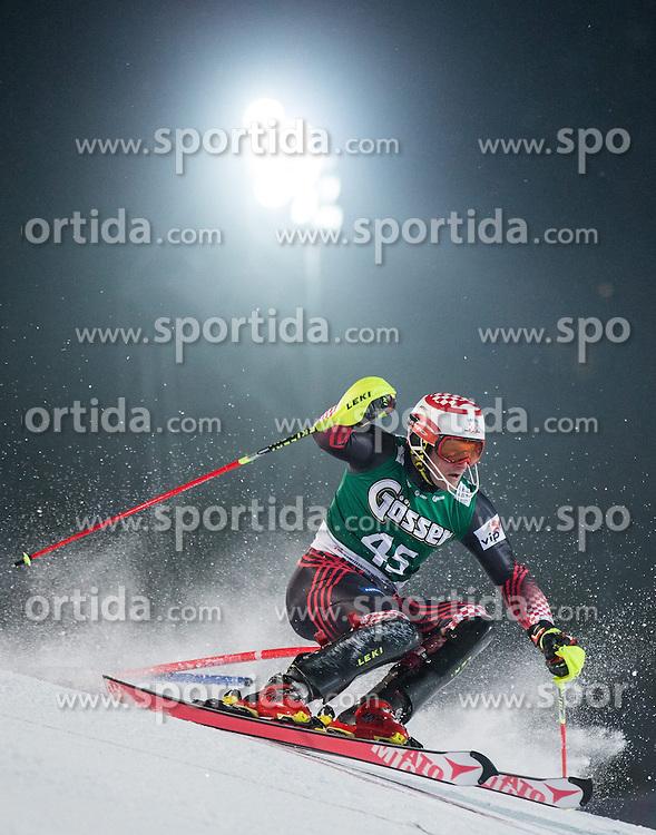 23.01.2015, Ganslernhang, Kitzbuehel, AUT, FIS Ski Weltcup, Supercombi Slalom, Herren, im Bild Natko Zrncic-Dim (CRO) // Natko Zrncic-Dim of Croatia in action during the men's Super Combined Slalom of Kitzbuehel FIS Ski Alpine World Cup at the Ganslernhang Course in Kitzbuehel, Austria on 2015/01/23. EXPA Pictures © 2015, PhotoCredit: EXPA/ Johann Groder