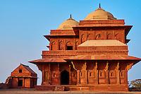 Inde, état de l'Uttar Pradesh, Fatehpur Sikri, ancienne capitale de l'empire moghol, classée Patrimoine Mondial de l'UNESCO, maison de Birbal // India, Uttar Pradesh, Unesco World heritage, Fatehpur Sikri, Birbal's palace