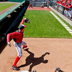 Mar 6, 2013; Clearwater, FL, USA; Washington Nationals starting pitcher Stephen Strasburg (37) warms up in the bullpen before a spring training game against the Philadelphia Phillies at Bright House Field. Mandatory Credit: Derick E. Hingle-USA TODAY Sports