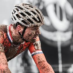 29-01-2017: Wielrennen: Wereldkampioenschap veldrijden: Luxemburg<br /> BIELES (LUX) cyclocross<br /> Teleurstelling bij Mathieu van der Poel