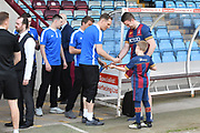 Bradford City Team Players sign Bradford fans shirt before the EFL Sky Bet League 1 match between Scunthorpe United and Bradford City at Glanford Park, Scunthorpe, England on 5 May 2018. Picture by Ian Lyall.