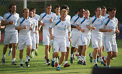 SINGAPORE, SINGAPORE - Sunday, July 17, 2011: Liverpool's Dirk Kuyt during an exhibition training session at the Bishan Stadium in Singapore on day seven of the club's preseason Asia Tour. (Photo by David Rawcliffe/Propaganda)