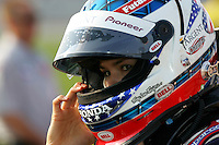 Danica Patrick at the Chicagoland Speedway, September 11, 2005