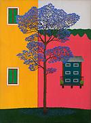 Mike Harridge. Jacaranda (Brazil).<br /> Acrylic on Canvas.<br /> sold