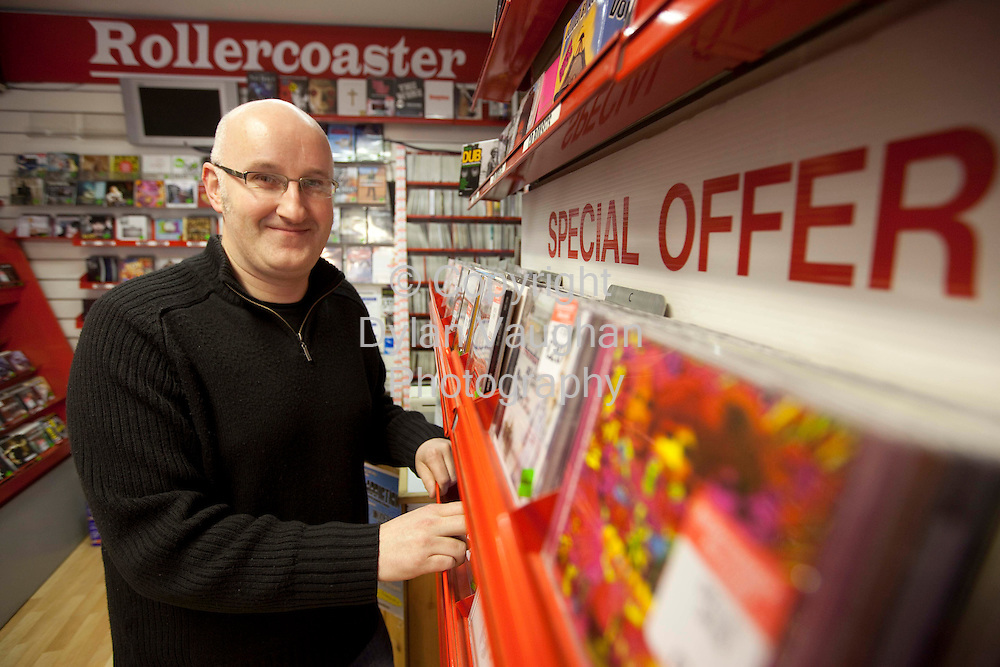 17/4/2009.Picture for Dara de Faoite Story..Willie Meighan, of Rollercoaster Music in Kilkenny, ahead of the second ever International Record Store.Day..Picture Dylan Vaughan