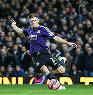 Aaron Cresswell of West Ham United during the FA Cup match at the Boleyn Ground, London<br /> Picture by David Horn/Focus Images Ltd +44 7545 970036<br /> 13/01/2015