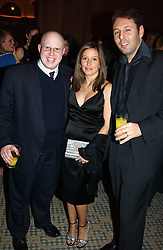 Comedian MATT LUCAS and DARREN & SARA DEIN he is the son of the Vice Chairman of Arsenal FC at a dinner hosted by footballer Patrick Vieira and the Diambars UK Charital Trust at The Landmark Hotel, 222 Marylebone Road, London NW1 on 3rd February 2005.<br />