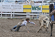 Steer Wrestling, Cowboy, teen, teenager, Rodeo, Salmon, Idaho