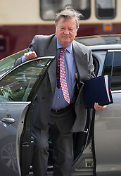 © London News Pictures. 22/05/2011. London, UK.  Lord Chancellor and Secretary of State for Justice Ken (Kenneth) Clarke arriving at the cabinet office on Whitehall on May 22, 2012 for a cabinet meeting. Photo credit: Ben Cawthra/LNP