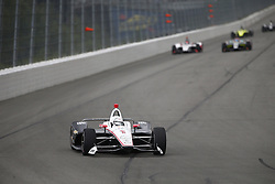 August 19, 2018 - Long Pond, Pennsylvania, United Stated - JOSEF NEWGARDEN (1) of the United States battles for position during the ABC Supply 500 at Pocono Raceway in Long Pond, Pennsylvania. (Credit Image: © Justin R. Noe Asp Inc/ASP via ZUMA Wire)