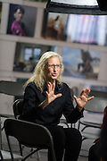 Annie Leibovitz in Hong Kong to open her exhibition- 'WOMEN: New Portraits'. The exhibition is a global tour of new photographs commissioned by UBS