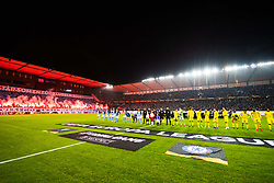 February 14, 2019 - MalmÃ, Sweden - 190214 Players of Malmö FF and of Chelsea during line up ahead of the Europa league match between Malmö FF and Chelsea on February 14, 2019 in Malmö..Photo: Petter Arvidson / BILDBYRÃ…N / kod PA / 92225 (Credit Image: © Petter Arvidson/Bildbyran via ZUMA Press)