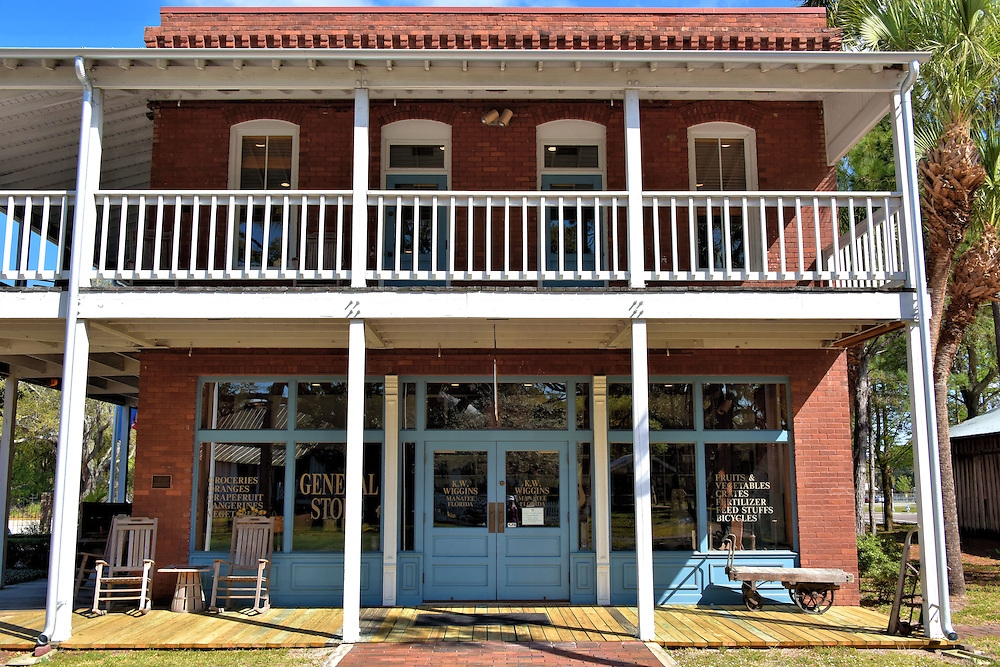 Wiggins General Store Fa&ccedil;ade at Manatee Village in Bradenton, Florida <br />
