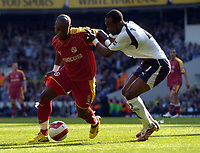 Photo: Olly Greenwood.<br />Tottenham Hotspur v Reading. The Barclays Premiership. 01/04/2007. Reading's Leroy Lita and Spurs Didier Zokora