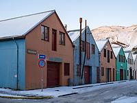 Houses in Vestmannaeyjar islands, Iceland.