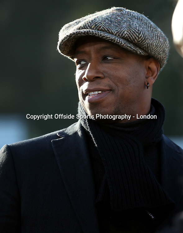 4 January 2015 FA Cup 3rd round - Dover Athletic v Crystal Palace ;  Ian Wright, working as a BT Sport television presenter.<br /> Photo: Mark Leech