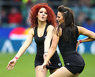 The Kukri Allstarzz dancers entertain before the match between between the Barbarians and South Africa at Twickenham, London, on Saturday 4th December 2010. (Photo by Andrew Tobin/SLIK images)
