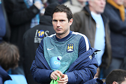 Manchester City's Frank Lampard takes a place on the bench - Photo mandatory by-line: Matt McNulty/JMP - Mobile: 07966 386802 - 24/01/2015 - SPORT - Football - Manchester - Etihad Stadium - Manchester City v Middlesbrough - FA Cup Fourth Round