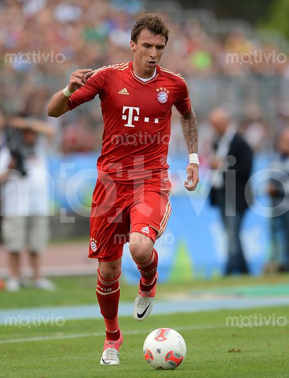 Fussball 1. Bundesliga:  Saison  Vorbereitung 2012/2013     Trainingslager des FC Bayern Muenchen 20.07.2012 Testspiel:  FC Bayern Muenchen - SSC Neapel Mario Mandzukic (FC Bayern Muenchen)