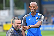 Jimmy Abdou a new signing for The Dons during the Pre-Season Friendly match between AFC Wimbledon and Watford at the Cherry Red Records Stadium, Kingston, England on 15 July 2017. Photo by Jon Bromley.