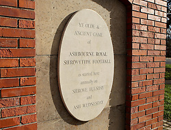 The Plinth from which the ball is turned up at the start of the game - Mandatory byline: Robbie Stephenson/JMP - 09/02/2016 - FOOTBALL -  - Ashbourne, England - Up'Ards v Down'Ards - Royal Shrovetide Football
