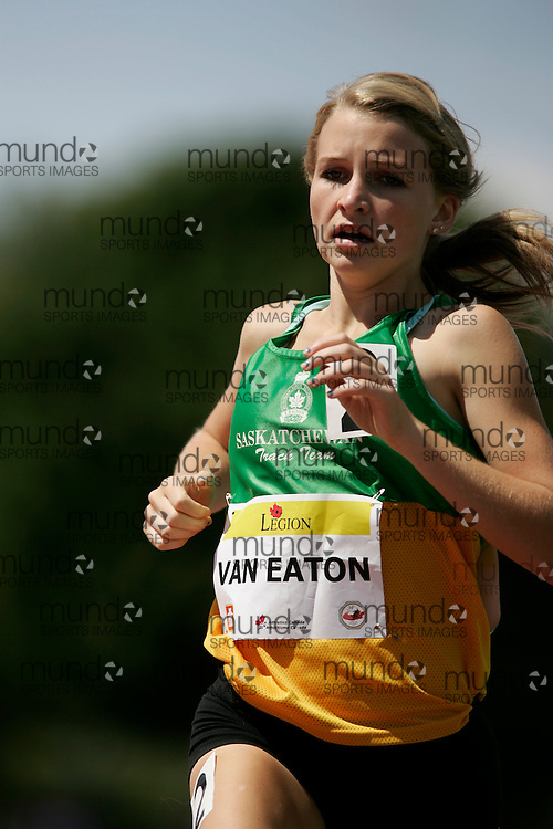 Ottawa, Ontario ---10-08-07--- Van Eaton competes in the 2000 metres at the 2010 Royal Canadian Legion Youth Track and Field Championships in Ottawa, Ontario August 7, 2010..JULIE ROBINS/Mundo Sport Images.